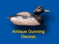 Early decoys used for hunting waterfowl