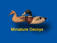 Small scale replicas of working decoys